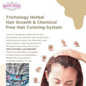 Trichology herbal hair growth loss training Singapore