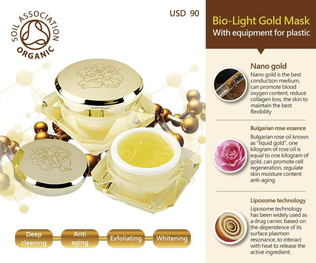 Bio-Light Gold Mask
