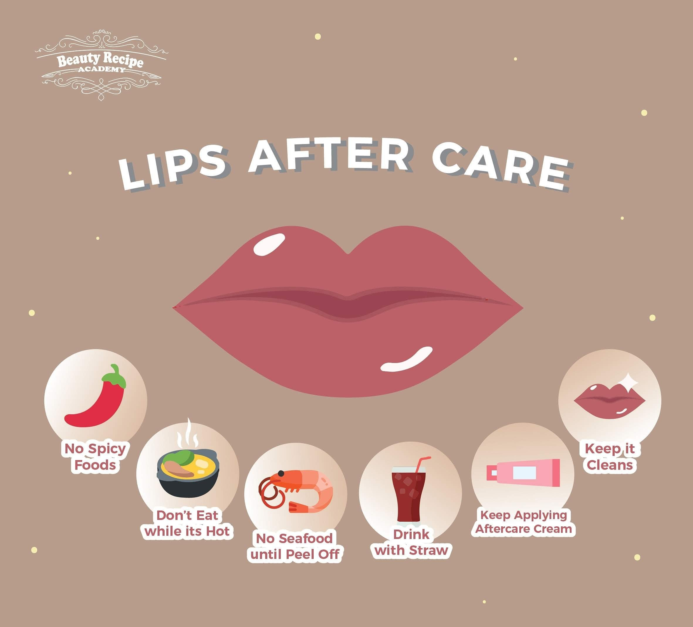 Eyebrow Eyeliner Lip Embroidery After Care infographic