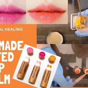 handmade natural organic tinted lip balm singapore