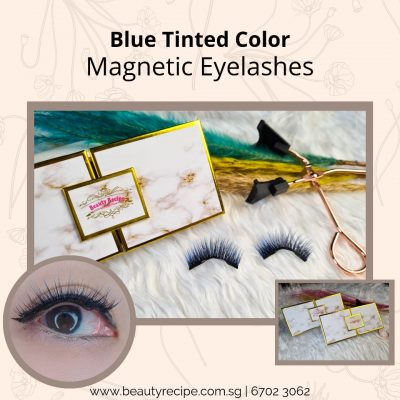 Blue Tinted Color Magnetic Lashes
