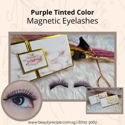 Purple Tinted Color Magnetic Lashesed Color Magnetic Lashes