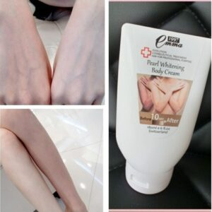Authentic TAIWAN Emma 1997 Pearl Whitening Body Cream / Instant Whitening Cream before after